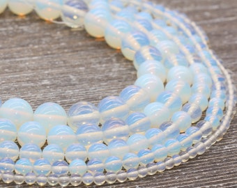 Clear Opalite Round Beads 6mm 64 Pcs Art Hobby DIY Jewellery Making Crafts