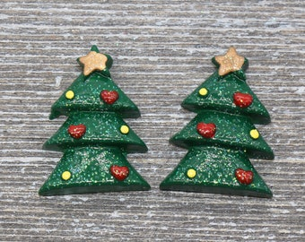 Christmas Tree Fimo Slices Clay Holiday Miniatures For Resin