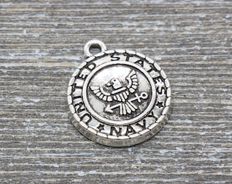 10pcs NAVY WIFE charm pendant alloy Jewelry Findings military