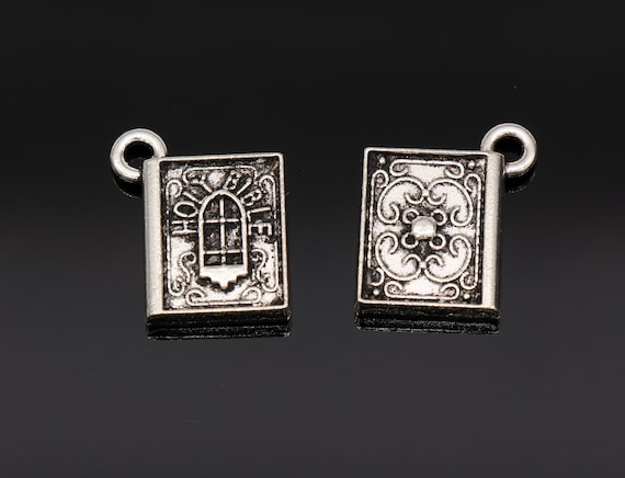 BC152 8 Book Charms Antique Bronze Tone Simply Adorable