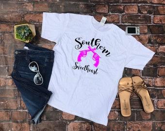b6eda1e3546 Southern Girl Shirt. Gun Shirt. Gun TShirt. Gun Tank. Southern Shirts. Gun  Tank. Southern Tanks. Country Girl. Women s Shooting Shirts