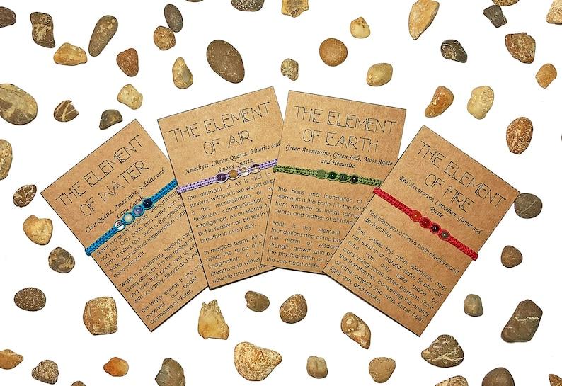 435aff147e1c Set de pulseras de los 4 Elementos. Agua Aire Tierra y