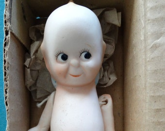 "Pudgie or Kewpie 5"" Doll Thin Eye Brows Version Porcelain by Shackman"