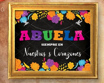 Dia de muertos sign, Altar de Muertos, Cartel para altar, Mexican traditions