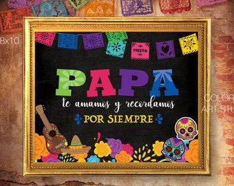 PAPA Dia de muertos sign, Altar de Muertos, Cartel para altar, Mexican traditions