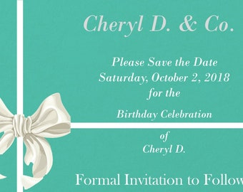 breakfast at tiffanys save the date tiffany invitation turquoise quinceanera invitations silver tiffany bow sunday brunch formal