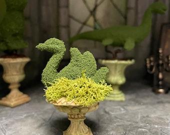 Miniature swan topiary plants haunted dollhouse plant