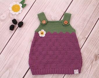 Baby jurk breien jurk BlackBerry