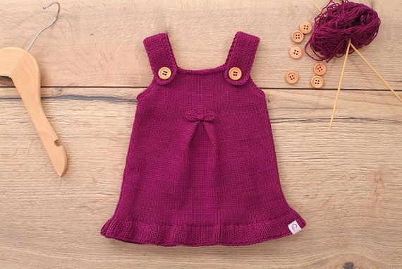 3aabb7a2f Baby dress knit dress model Tilda wishful color