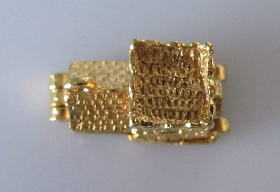 Gold Church and Wedding Large Gold and Enamel Charm