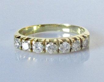 18ct Gold Diamond Seven Stone Ring