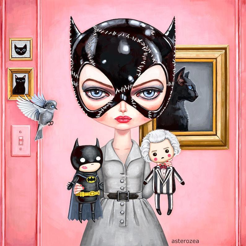 48fb07e247e Catwoman Art Print Batman Returns Tim Burton art Selina