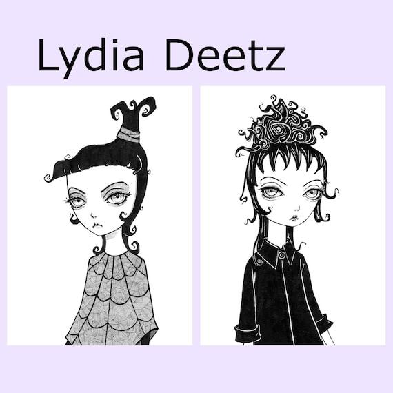 Lydia Deetz 5x7 Print Beetlejuice Wall Art Print Tim Etsy