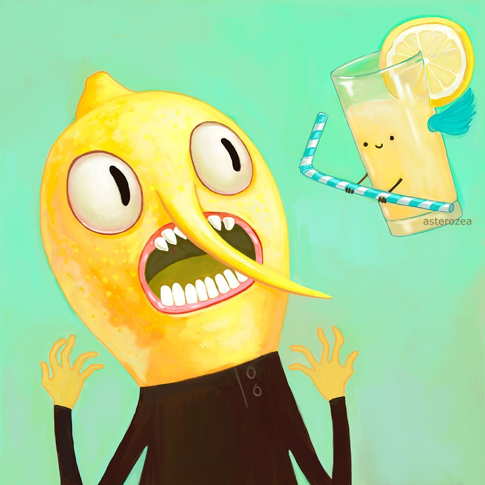 Adventure Time Earl of Lemongrab Wall Art Print Geek art | Etsy