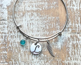Graduation Gift - Feather - boho - feather charm - feather bracelet - feather jewelry - boho bracelet - feather bangle - boho jewelry -