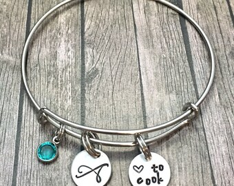 Foodie Gift - Chef Gift - Culinary Gifts - Gift for cooks - Cook - Culinary bracelet - Jewelry for cooks - chefs bracelet -