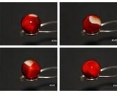 11 16 quot (-) Peltier Cherry Bomb Gorgeous Vintage Marble 345