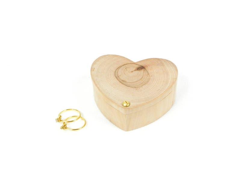 Personalized ring bearer box wooden hand made heart shaped ring bearer box holder heart wood
