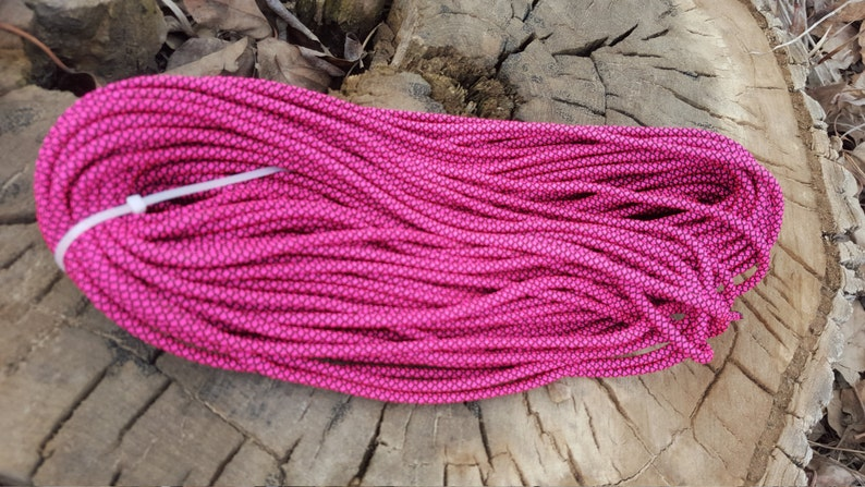 Pink 550 Paracord Parachute Cord Made in the USA Military Grade Paracord