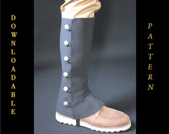 PDF downloadable spats pattern and tutorial