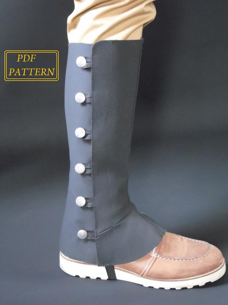 Spats, Gaiters, Puttees – Vintage Shoes Covers Basic Spats Digital PDF Pattern Sewing Tutorial $4.39 AT vintagedancer.com