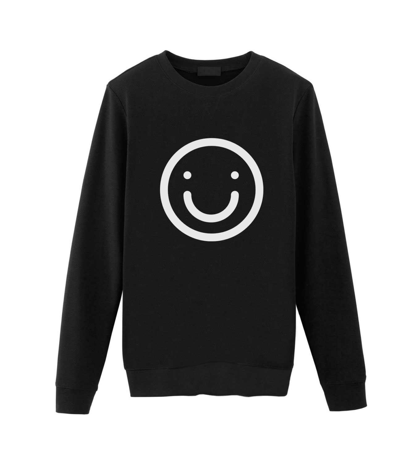 Smiley Happy Face Emoticon Sweatshirt Sweater Tumblr Etsy