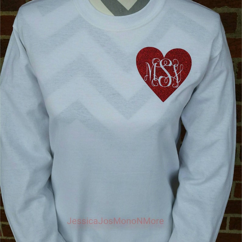 6c2f076038f8 Valentine's Day Monogram Shirt Monogram Valentine Shirt | Etsy
