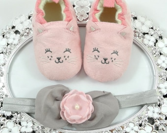 Baby Girl Sneaker/Shoe Headband Set, Newborn Baby Girl Shoes, Baby Accessories, Shower Gift, Gift for Baby