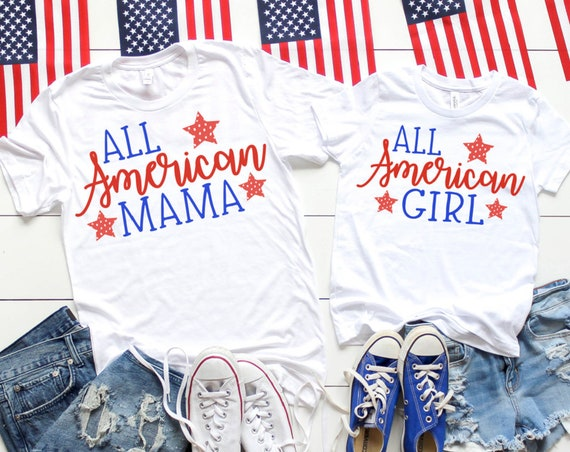All American Mama | All American Girl Boy | Mommy and Me Set