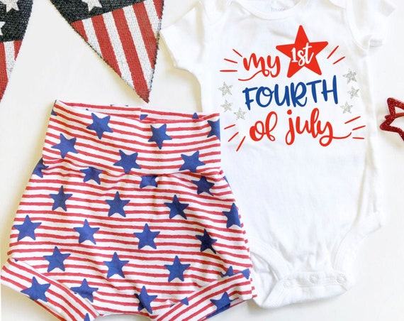 My First Fourth of July Set | Stars and Stripes Shorts