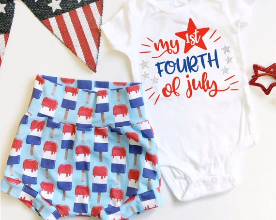My First Fourth of July Set | Popsicle Shorts