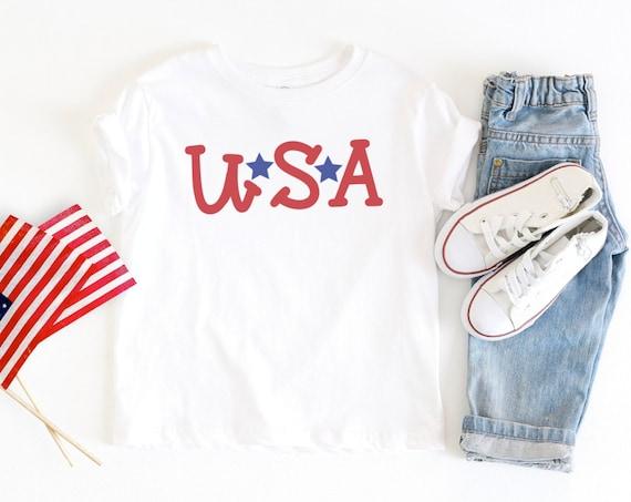 USA Toddler Shirt | 4th of July | Patriotic | Toddler | Little Girl | Baby Infant Bodysuit