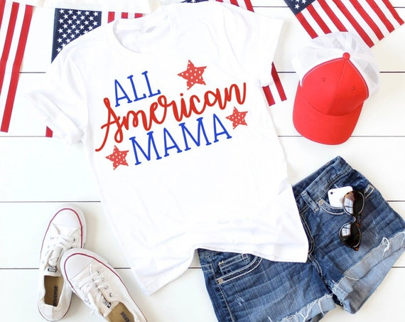 All American Mama Tee Shirt