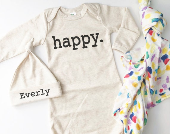Loved Happy Perfect Newborn Gown