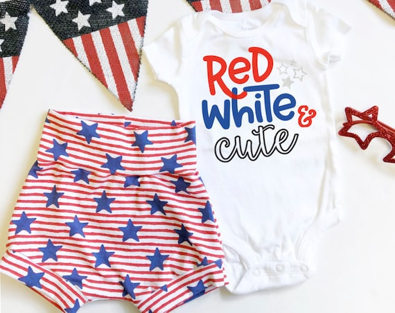 Red White and Cute | Stars and Stripes Shorts