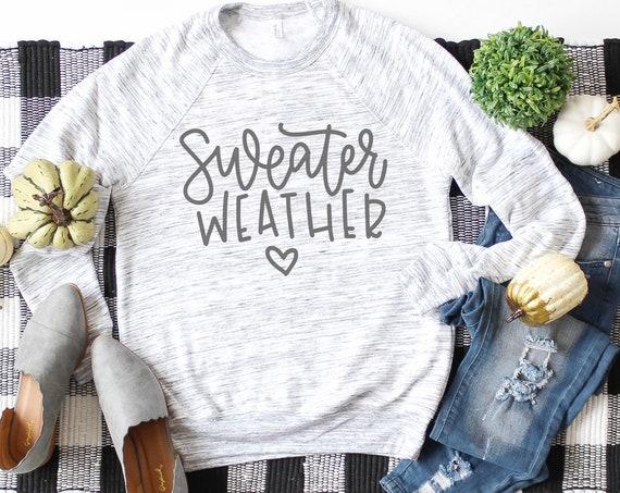 Sweater Weather Graphic Fleece Crewneck Sweatshirt