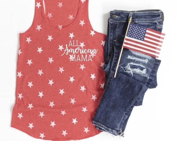 All American Mama Red Stars Tank