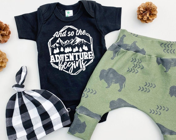 Adventure Awaits Baby Boy Coming Home Outfit