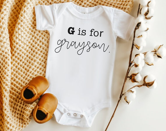 Baby Name Alphabet Bodysuit