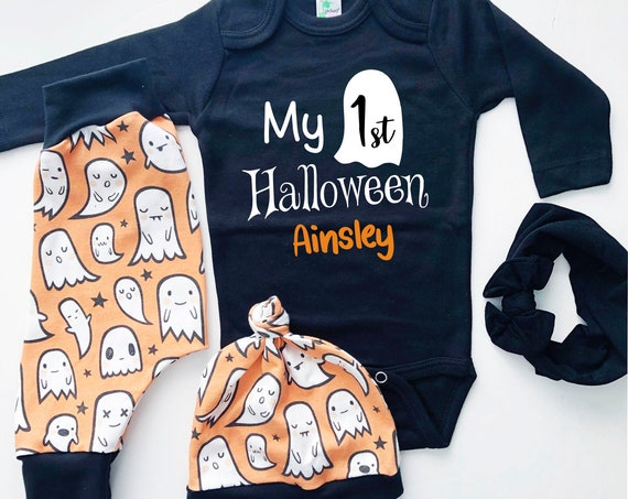 My First Halloween Outfit | Ghosts