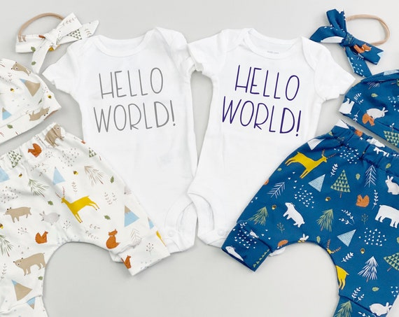 Woodland Twins Coming Home Outfit