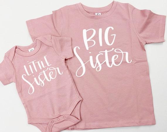 Rose Mauve Big Sister Little Sister Set