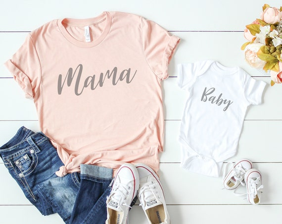 Mama Baby / Peach Mommy and Me Set