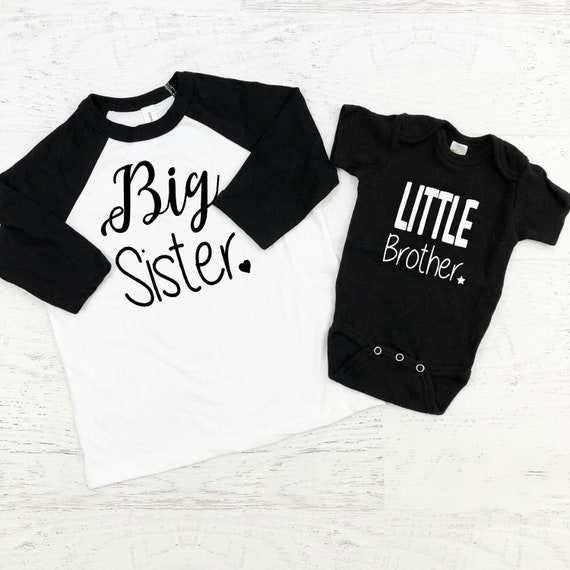 Big Sister Little Brother Sibling Shirts