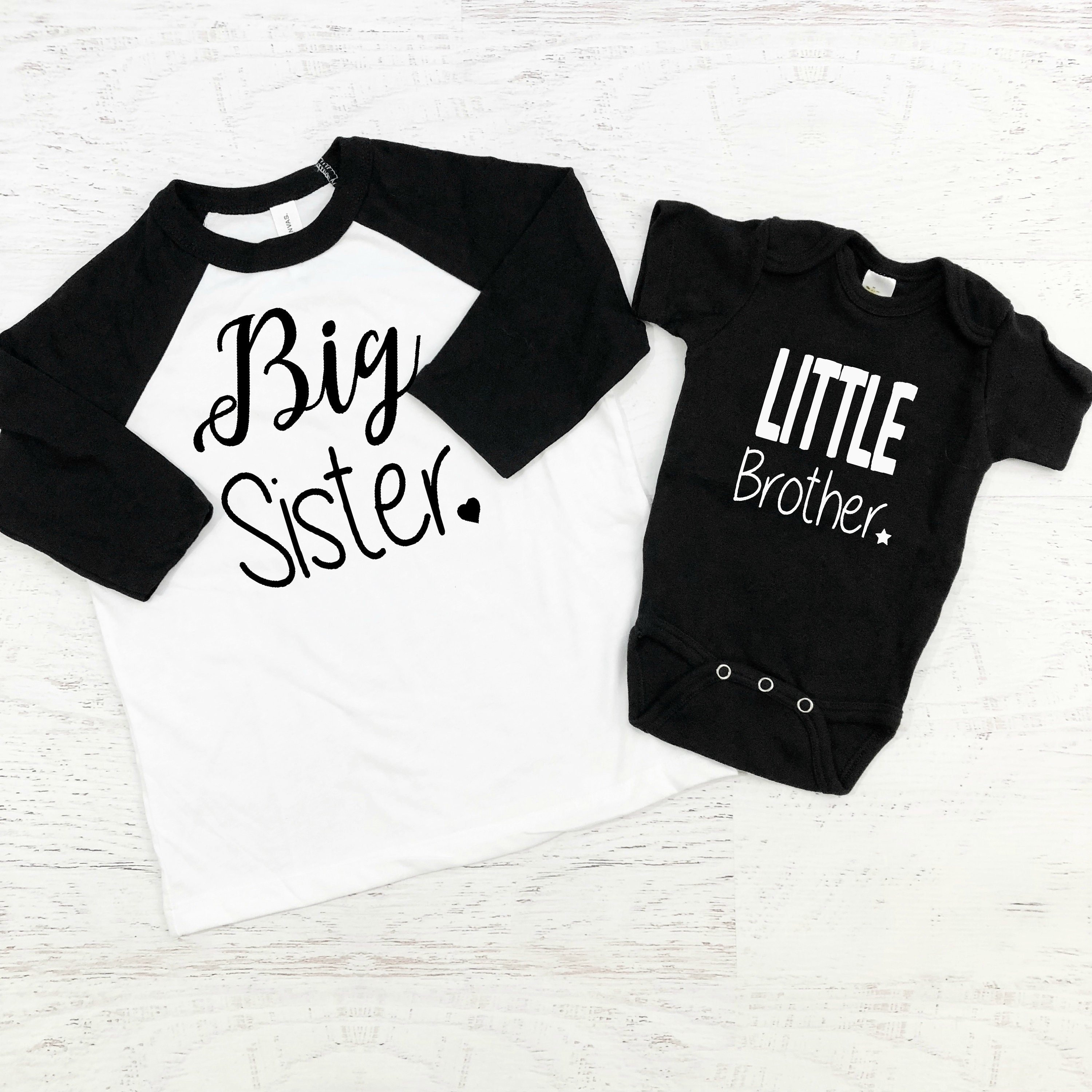 c5f624a14cb4 Big Sister Little Brother Sibling Shirts / Brother Sister Matching / Sibling  ...