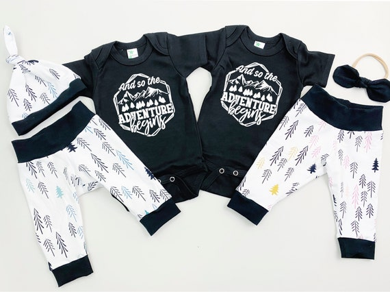 Woodland Trees Twins Coming Home Outfit
