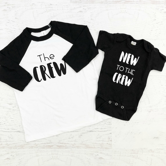 The Crew New to the Crew Sibling Shirts