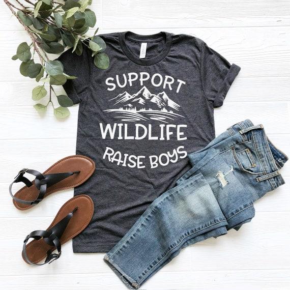 Support Wildlife Raise Boys Graphic Tee