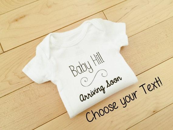 Pregnancy Announcement Bodysuit
