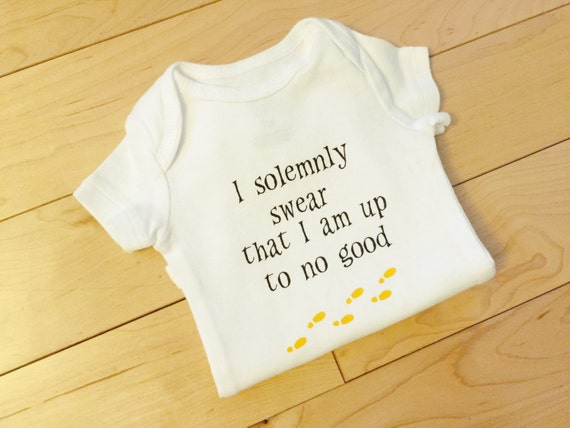 I Solemnly Swear that I'm Up to No Good Baby Bodysuit